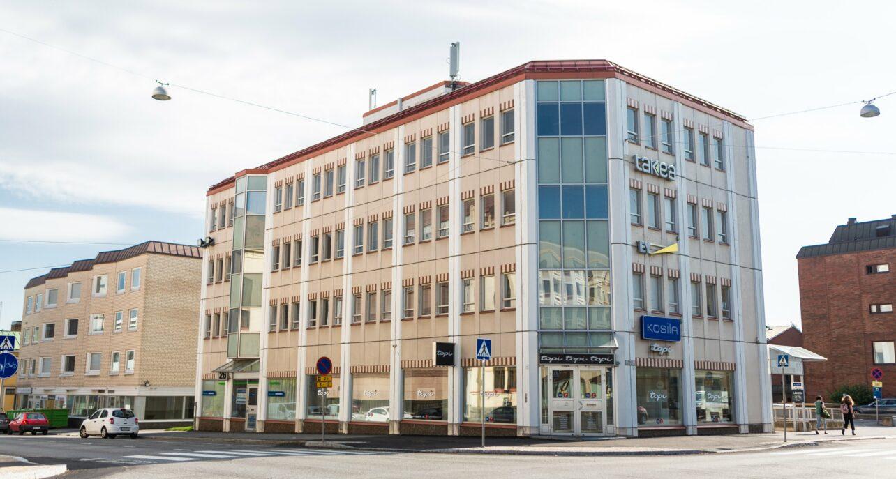 Vaasan keskustan toimisto- ja liiketalo vaihtoi omistajaa, peruskorjauksen tavoitteena nykyaikaisia monitilatoimistoja