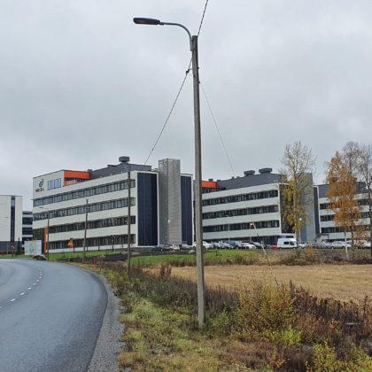 Wärtsilän käyttöön rakennettu Powergate II kokonaisuus valmistuessaan
